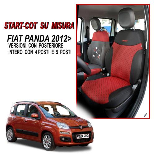 FODERE COPRISEDILI SU MISURA PER FIAT 500 2012 CON SEDILE POSTERIORE INTERO